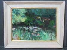 Claude Monet Homage James Carlisle (b.1937) Lily Ponds Oil C1970 Modern British