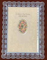 Vintage American Greetings Mother's Day Greeting Card With Rose Jewel & Envelope