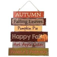 Signs Of Fall Wall Door Hanging Sign Autumn Harvest Decor