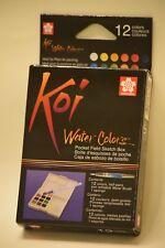Sakura Koi Water Colors 12 pocket field sketch box. New sealed