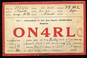 CARD  CARTE  QSL  radio amateur   BELGIQUE      1932   ( 15 )