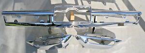 X CADILLAC NEW TRIPLE PLATED CHROME REAR BACK BUMPER IMPACT BAR 1966 66 OEM