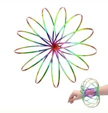 3D Magic Rainbow Flow Ring Toys Funny Kinetic Spring Arm Slinky Juggle Rainbow