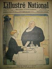 L'ILLUSTRé NATIONAL N° 40 HUMOUR CARICATURE DESSINS GERBAULT VIRIEZ 1903