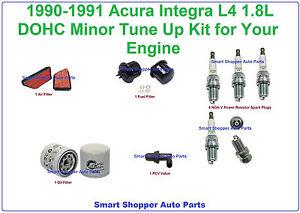 90-91 Acura Integra Tune Up Air, Fuel Filter, Oil Filter, Spark Plug, PCV Valve