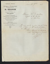 """LE MANS (72) USINE de LETTRES pour inscriptions en relief ZINC """"A. CORBIN"""" 1889"""