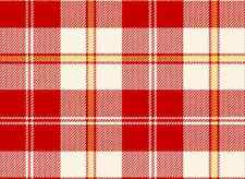 VIP Exclusive Fabric BE MINE Red Plaid with Metallic-yards
