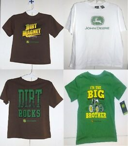 John Deere Boys T-Shirts 4 Choices Sizes 4, 6, 7 and 10-12 NWT