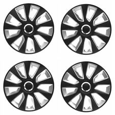 Radkappen Radzierblenden 16 Zoll schwarz silber von Versaco 4 Stück Typ Stratos