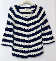 Anthropologie Monogram HWR Womens Small Striped Snap Front Cardigan Sweater