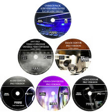 Qualsiasi audio video immagini foto creatore Editor Convertitore COMPRESSORE 6 CD Set PC MAC
