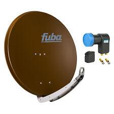 FUBA DAA 850 B + Opticum Twin LNB SAT Spiegel Schüssel braun Alu Antenne 85 cm