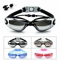 Swimming Goggles, Beeway Swim Goggles attached Ear Plugs for Adult Men Women An