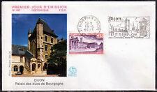 FRANCE FDC - 845 1757 5 PALAIS DES DUCS DE BOURGOGNE flamme 19 5 1973