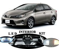 LED for Toyota Corolla Xenon White interior + License plate + Reverse (10 pcs).