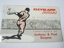 Vintage 1960 Cleveland Indians Municipal Stadium Pocket Baseball Schedule