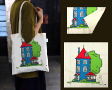 Moomin House Eco Friendly Cotton Shopping Shoulder Tote Bags Kawaii Present