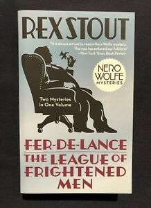 Rex Stout Nero Wolfe Fer-de-Lance and The League of Frightened Men Paperback NEW