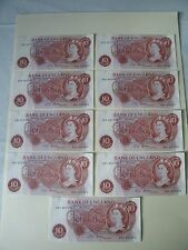 Ten shilling notes x 9