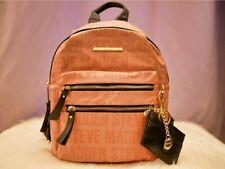 Steve Madden Women's Blush Logo Bmidi Prep Backpack With Card and ID Holder