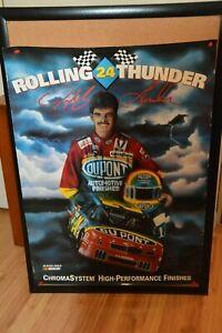 "Jeff Gordon / Sam Bass Dupont Poster Rolling Thunder 1993 22"" x 35"" Good"