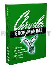 1951 1952 Chrysler Repair Shop Manual 51 52 New Yorker Windsor Saratoga Imperial