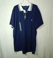 NWT U.S. Polo Assn. Short Sleeve Golf Shirt Blue Size Large L Mens Clothing