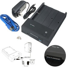 "2.5"" 3.5"" SATA USB 3.0 Horizontal HDD Hard Drive Disk Docking Station Enclosure"