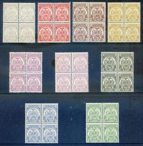Transvaal 1885 set 9v to 1sh unmounted mint blocks 4 (2019/04/28#07)