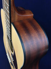 "41"" Caraya Solid Top Dreadnought Acoustic Guitar,Natural Matt+Free gig bag"