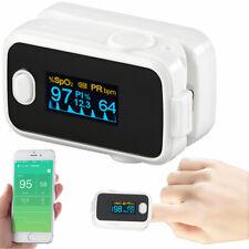 Oximeter: Medizinischer Finger-Pulsoximeter mit OLED-Farbdisplay, Bluetooth, App