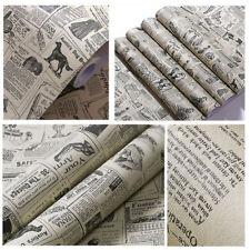 3m Newspaper Decorative Contact Paper Self Adhesive Wallpaper Shelf Drawer Liner