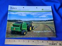 John Deere 9 Series Round Balers Small Square Brochure VTG Advertising Farm