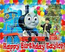 THOMAS THE TANK: Personalized Edible Cake Topper FREE SHIPPING in Canada
