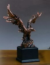 Very Large Magificent Eagle 15.5 x 19.5 Beautiful Bronze Statue / Sculpture