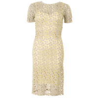 BODY FROCK Dress Grey & Yellow Floral Embroidered BG