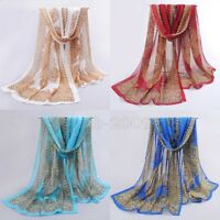 Vintage Women's Fashion Long Soft Paisley Chiffon Wrap Shawl Scarf Scarves
