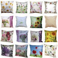 Kissenbezüge Kissenhüllen in 40 x 40 cm viele neue  Blumenmotive Motivauswahl