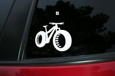 Fat Bike die-cut car window sticker. Buy 2 get 1 free offer!