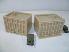 2 unpainted resin office buildings for 6mm wargames, 1/300th and 1/285th scale