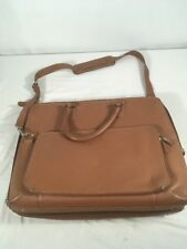 Levenger Brown Leather Executive Briefcase Bag Messenger - Very Nice!! Laptop