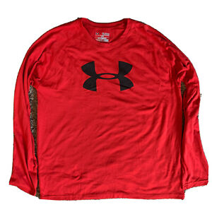 Under Armour Youth XL Red Long Sleeve Shirt-Loose