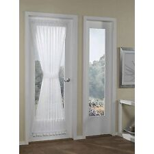 RHF Voile French Door Curtains/panel 40W by 72L Inches-Voile White