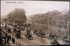 Uk~England~1900's London ~ Rotten Row ~ Horse Carriages ~Upper Class Horse Ride