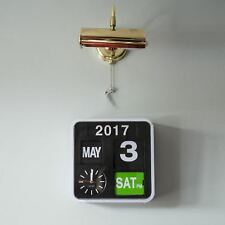 Karlsson Mini Flip White Clock Calendar Digital Stylish Designer Timepiece