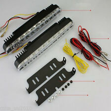 Car White DRL & Amber Turn Signal Daytime Running Daylight 2x30 LED Universal
