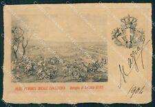 Militari II Reggimento Piemonte Cavalleria Battaglia Luzzara cartolina XF1878