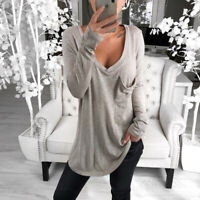 Loose Summer Solid Blouse Ladies Tops T-shirt Fashion Long Sleeve Women's Shirt