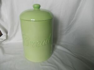 Retro Ceramic Light Green Bread Bin