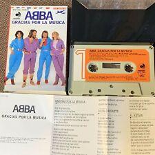 ABBA Gracias Por La Musica JAPAN CASSETTE DCP-1801 w/DIFFERENT COVER SLIP CASE